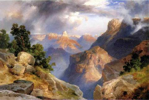 Grand Canyon painting, a Thomas Moran paintings reproduction, we never sell Grand Canyon poster