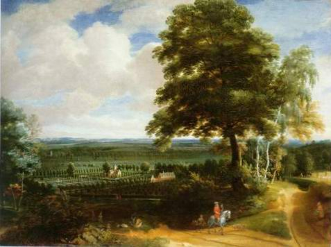 panoramic landscape painting, a Jacques darthois paintings reproduction, we never sell panoramic