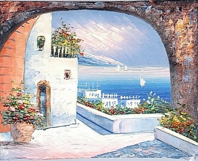 Seascape painting, a unknown artist paintings reproduction, we never sell Seascape poster
