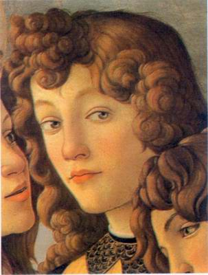Angel painting, a Sandro Botticelli paintings reproduction, we never sell Angel poster