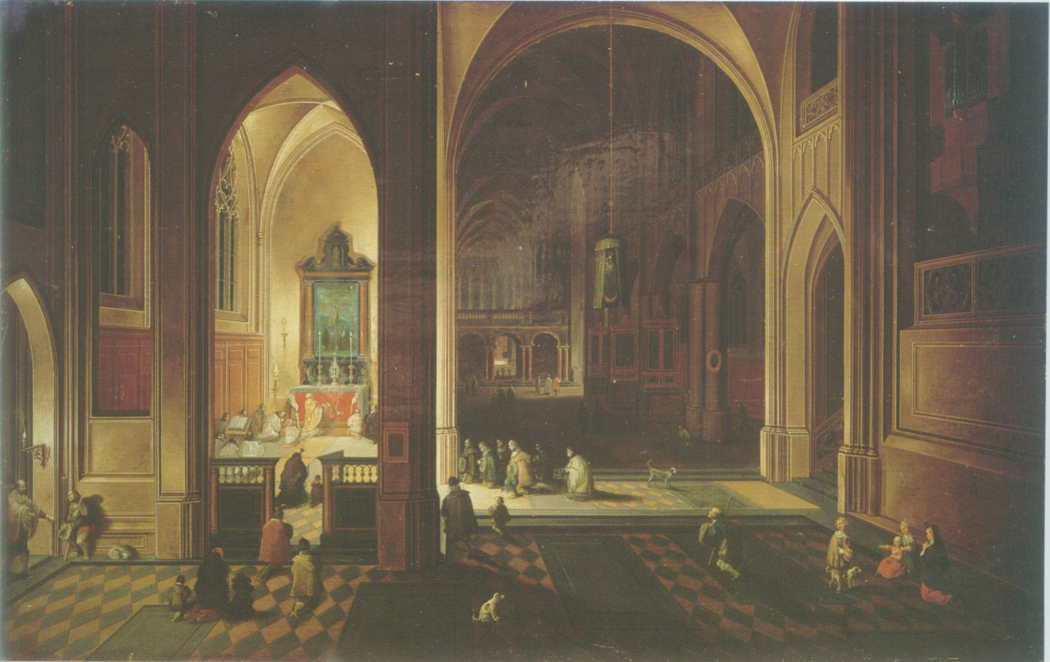 Pieter Neefs Painting A Gothic Cathedral Paintings