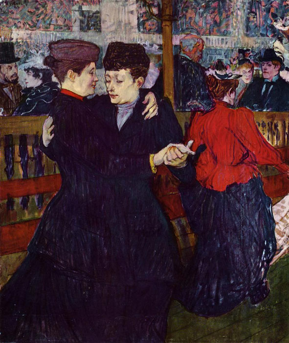 Oil Painting Reproduction of Toulouse- Lautrec- At the Moulin Rouge: the Two Waltzers