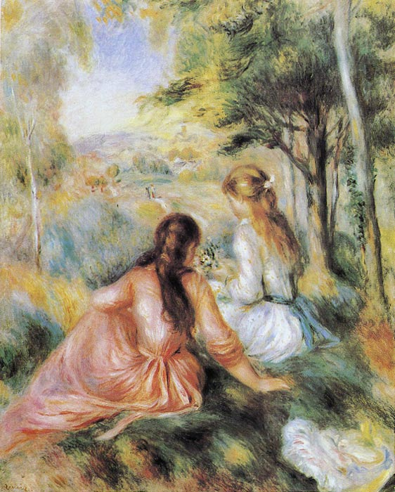 Oil Painting Reproduction of Renoir- On the Meadow