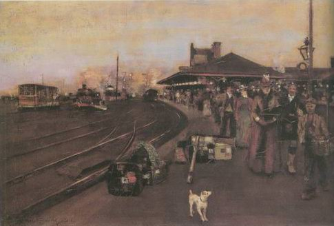 Stirling Station painting, a William Kennedy paintings reproduction, we never sell Stirling Station