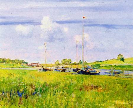 Boat Landing painting, a William Merritt Chase paintings reproduction, we never sell Boat Landing