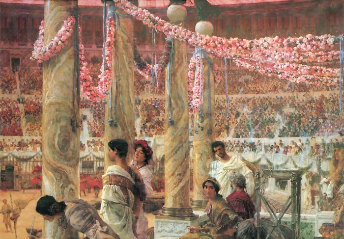 Oil Painting Reproduction of Alma-Tadema - Caracalla and Geta