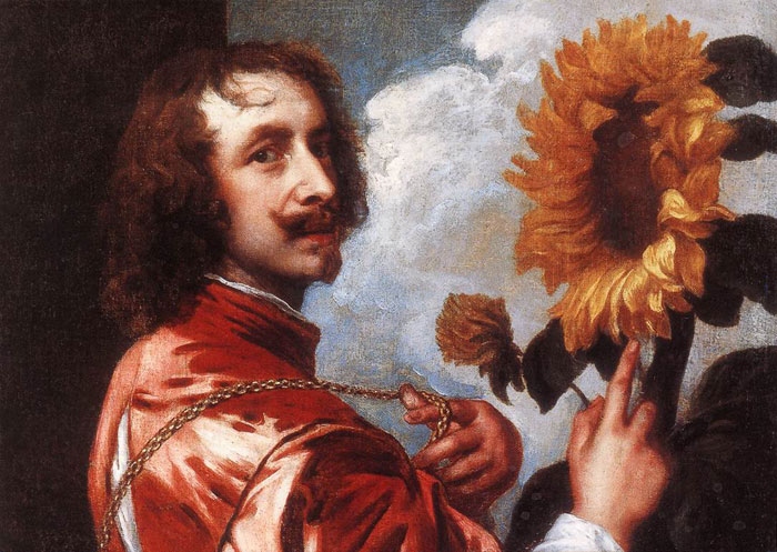 Oil Painting Reproduction of van Dyck - Self-portrait with a Sunflower