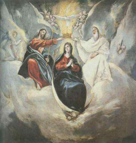 The Coronation of the Virgin painting, a El Greco paintings reproduction, we never sell The