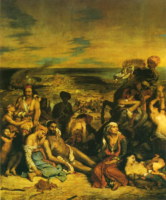 Oil Painting Reproduction of Delacroix- The Massacre at Chios