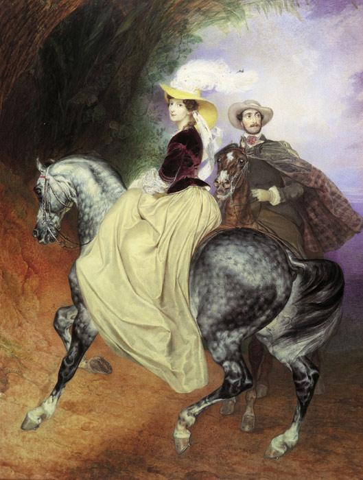 Winterhalter Oil Painting Reproductions - Portrait of Madame Rimsky-Korsakov