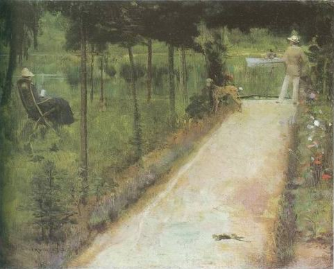 grey summers day painting, a John Lavery paintings reproduction, we never sell grey summers day