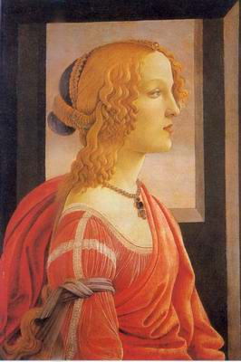 portrait of a lady painting, a Sandro Botticelli paintings reproduction, we never sell portrait of a