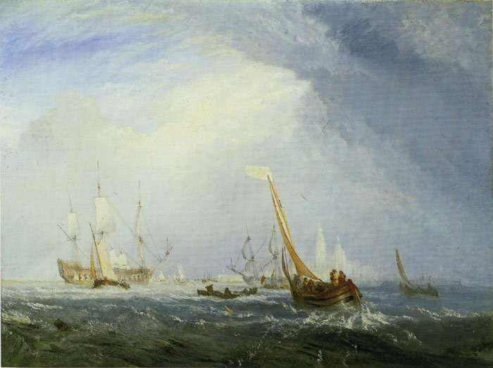 Turner Oil Painting Reproductions - Cologne:The Arrival of a Packet Boat