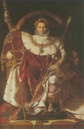Napleon, Emperor of France, at his coronation painting, a Ingres paintings reproduction, we never