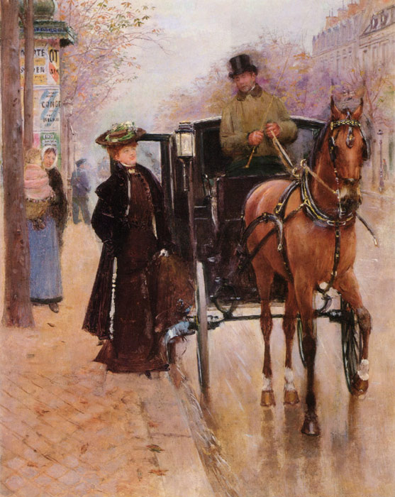 Beraud Oil Painting Reproductions - Home, Driver !