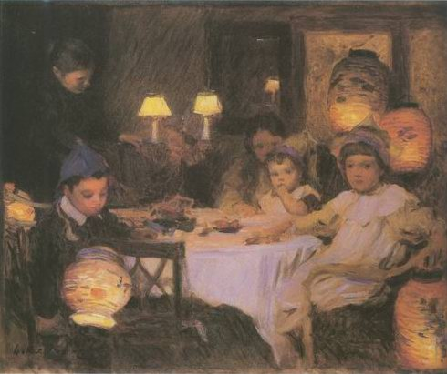 The Birthday Party painting, a Walter Osborne paintings reproduction, we never sell The Birthday