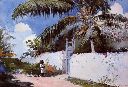 A Garden in Nassau painting, a Winslow Homer paintings reproduction, we never sell A Garden in