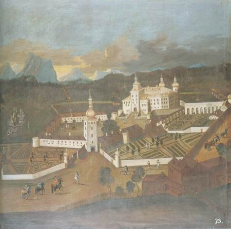 A view of Puchhein castle painting, a Austrian School paintings reproduction, we never sell A view
