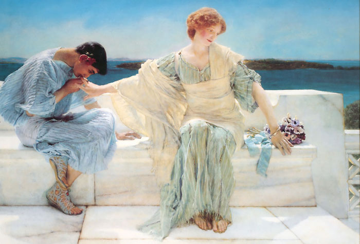 Alma-Tadema Oil Painting Reproductions - Ask me no more
