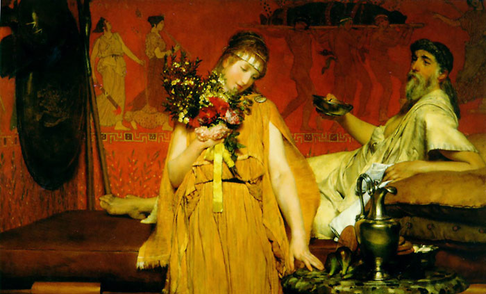 Alma-Tadema Oil Painting Reproductions - Between Hope and Fear