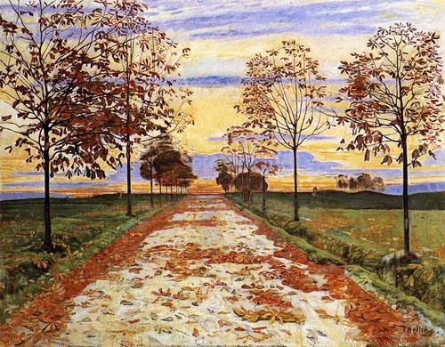 Autumn Evening painting, a Ferdinand Hodler paintings reproduction, we never sell Autumn Evening