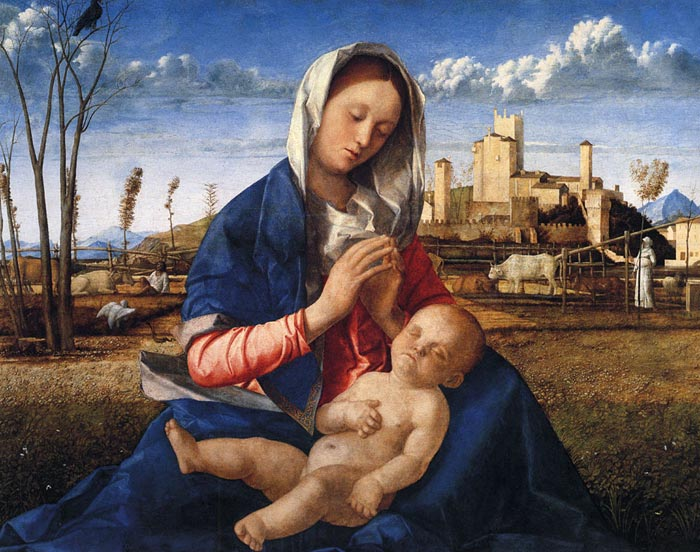 Bellini Oil Painting Reproductions - Virgin and Child