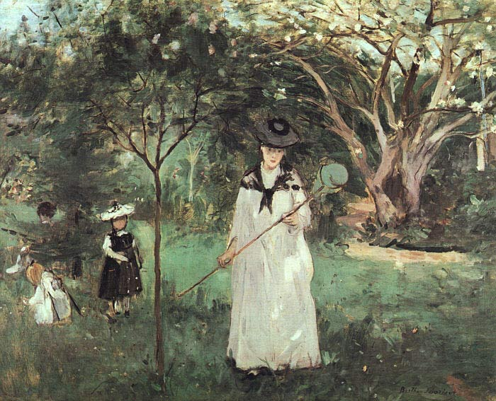 Berthe Morisot Oil Painting Reproductions - The Butterfly Chase