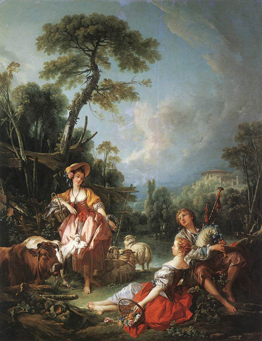 Boucher Oil Painting Reproductions- A Summer Pastoral