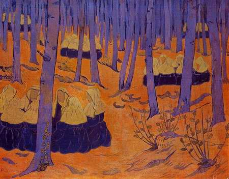 Breton Women, the Meeting in the Sacred Grove painting, a Paul Serusier paintings reproduction, we