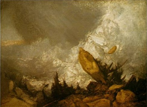 Cottage Destroyed by an Avalanche painting, a Joseph Mallord William Turner paintings reproduction