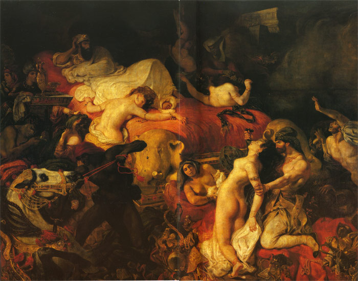 Delacroix Oil Painting Reproductions - The Death of Sardanapalus