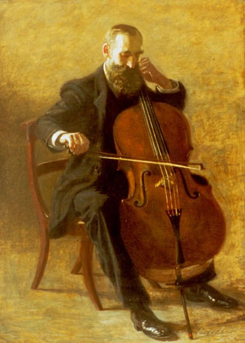 Eakins Reproductions - The Cello Player