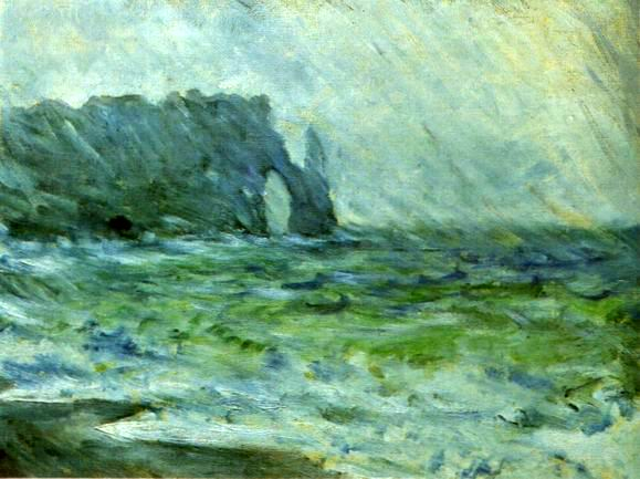 Etretat in the Rain painting, a Claude Monet paintings reproduction, we never sell Etretat in the