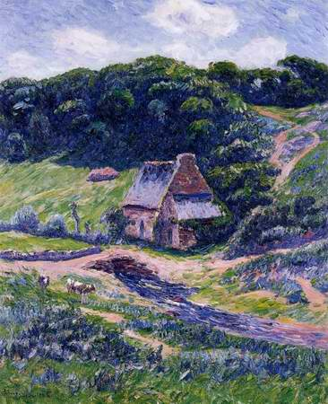 Farm at Doelan painting, a Henri Moret paintings reproduction, we never sell Farm at Doelan poster