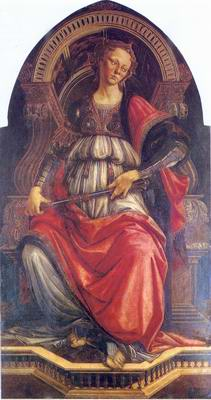 Fortitude painting, a Sandro Botticelli paintings reproduction, we never sell Fortitude poster