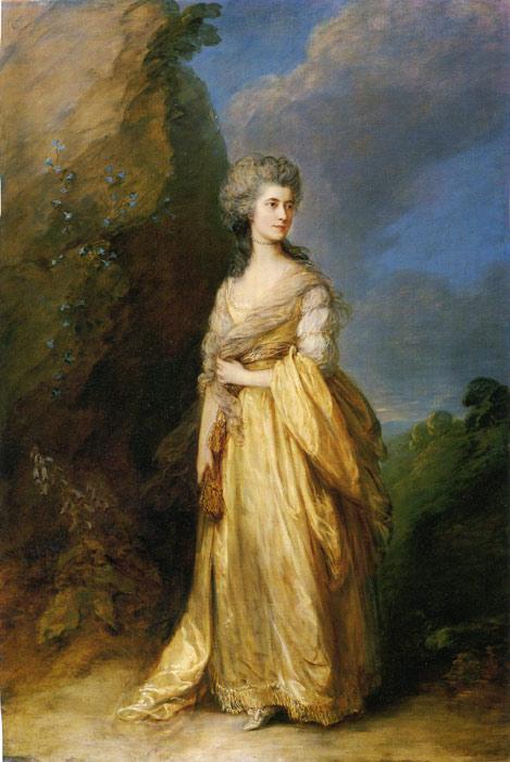 Gainsborough Oil Painting Reproductions - Mrs. Peter William Baker