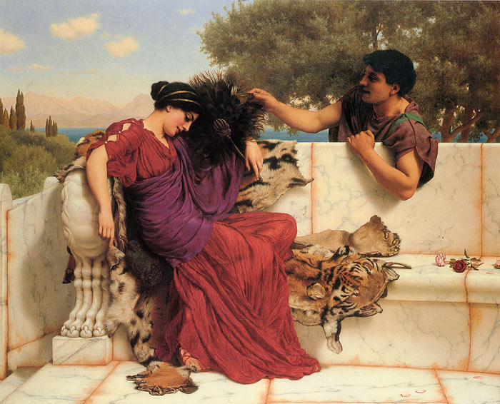 Godward Oil Painting Reproductions- The Old Story