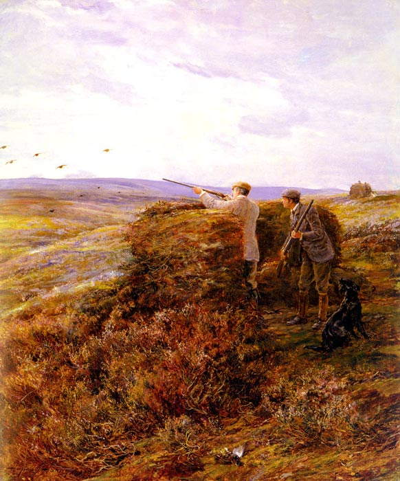 Hardy Oil Painting Reproductions - The Grouse Shoot