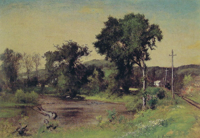 Inness Oil Painting Reproductions- Pompton Junction