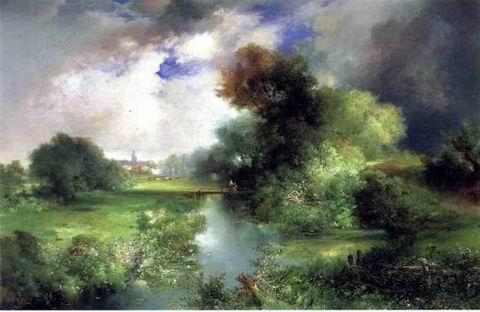 June painting, a Thomas Moran paintings reproduction