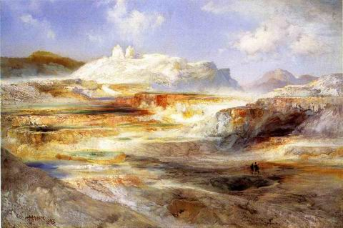 Jupiter Terrace, Yellowstone painting, a Thomas Moran paintings reproduction, we never sell Jupiter
