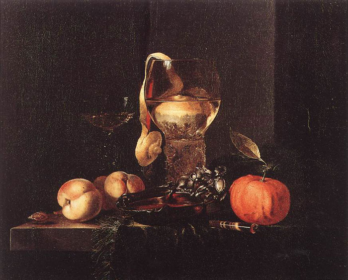 Kalf Oil Painting Reproductions - Still-Life with Silver Bowl