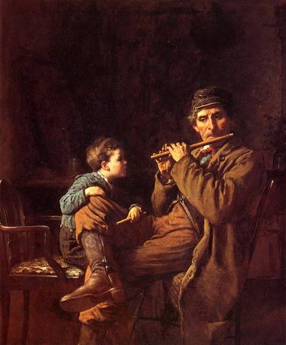 Learner of The Fifers painting, a Eastman Johnson paintings reproduction, we never sell Learner of