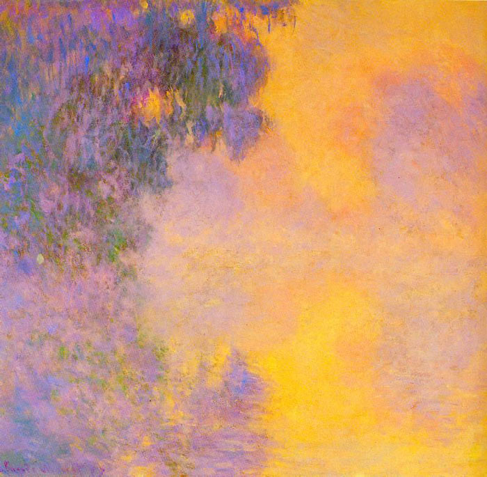 Monet Oil Painting Reproduction - Misty morning on the Seine sunrise