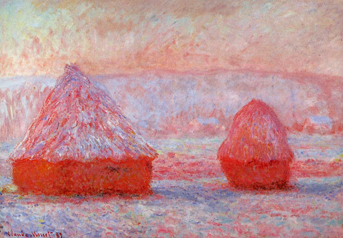 Monet Oil Painting Reproductions - Grainstacks at Giverny