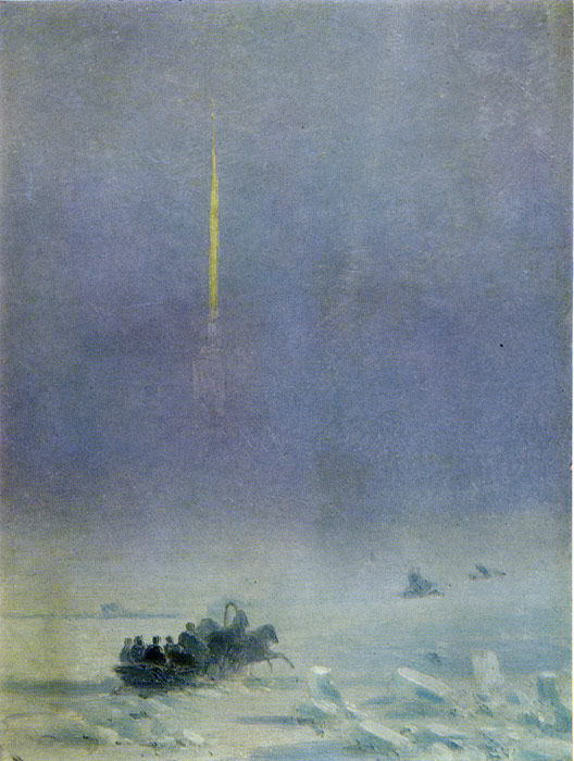 Oil Painting Reproduction of Aivazovsky - Crossing the Neva