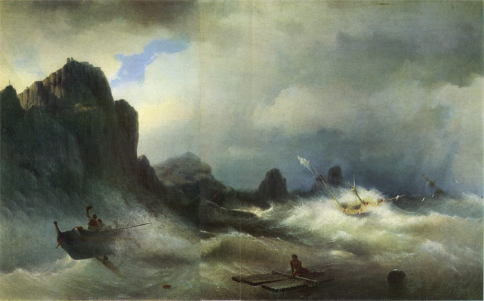 Oil Painting Reproduction of Aivazovsky - Shipwreck