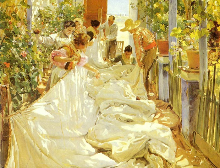 Oil Painting Reproduction of Alma-Tadema- A Harvest Festival
