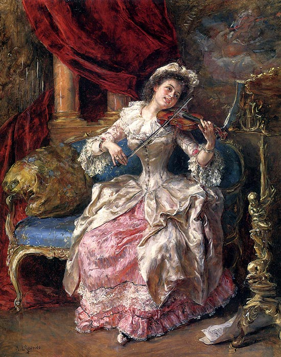 Oil Painting Reproduction of Garrido- A Musical Afternoon
