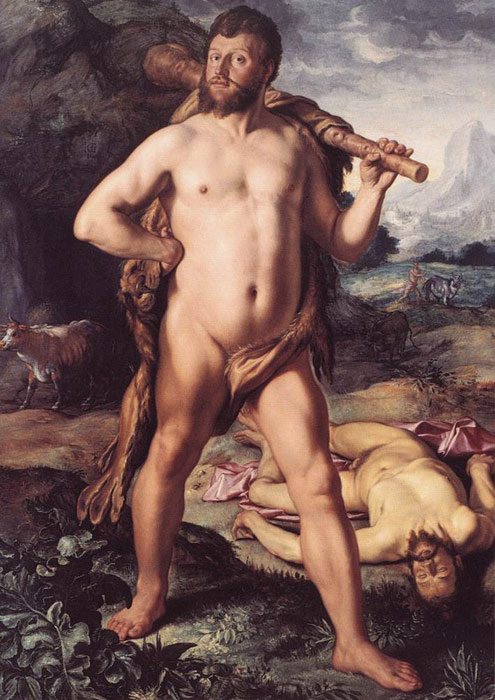 Oil Painting Reproduction of Goltzius- Hercules and Cacus